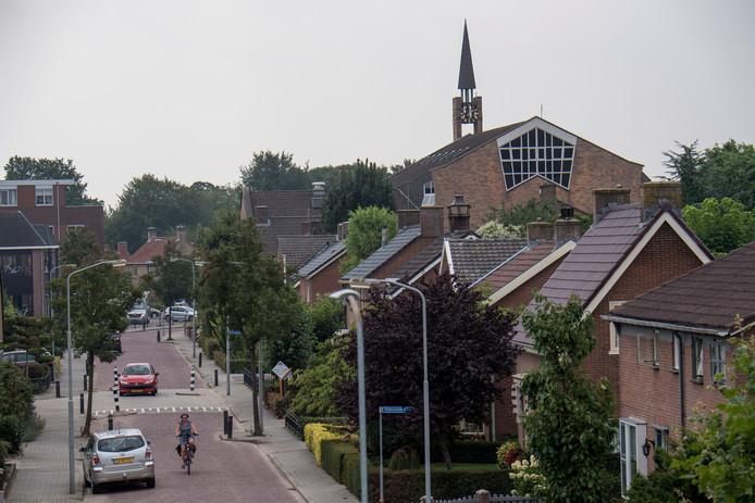 Het kerkgebouw van de Gereformeerde Gemeenten in Nederland in Opheusden.