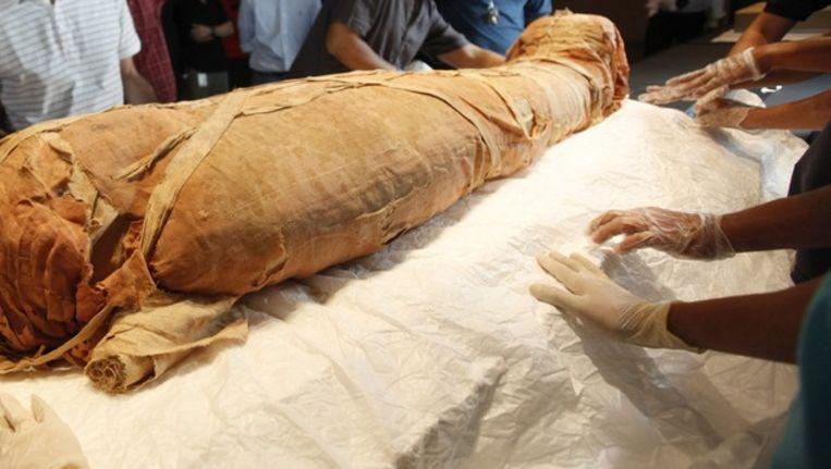 De man liet zich net als de Egyptische farao's voor de eeuwigheid prepareren. © ANP Beeld