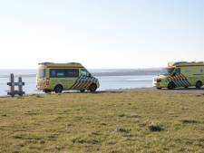 Twee personen ingesloten op zandplaat bij Baarland