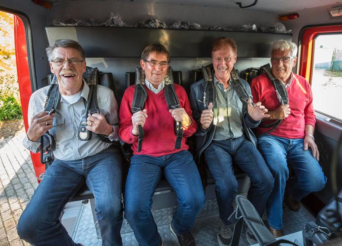Harry Coremans, Jaap Nieuwenhuijse, Johan de Leeuw en Rien van der Maarel (van links naar rechts).