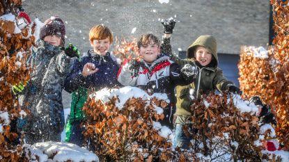 Jeugddienst organiseert spontaan reuze sneeuwballengevecht in Abtspark