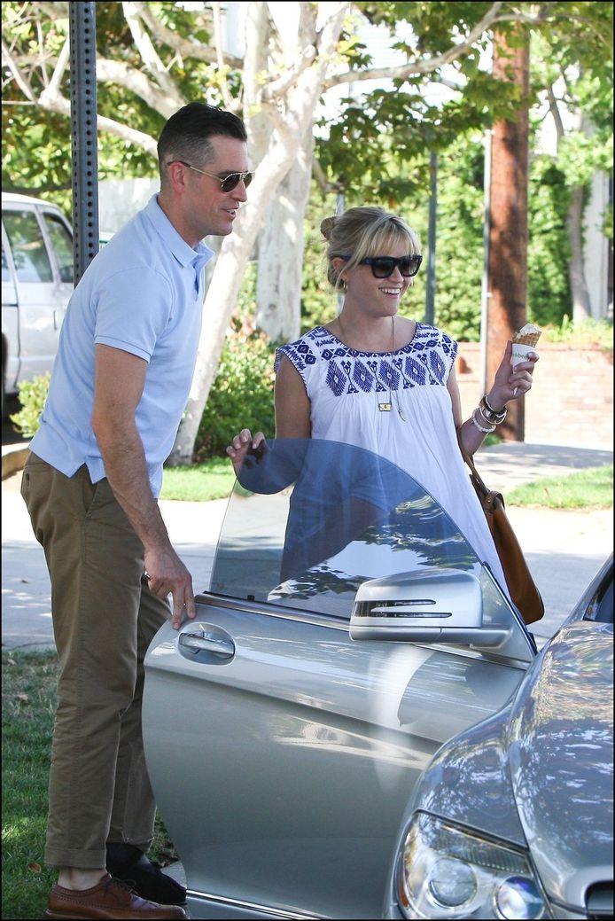 Reese Witherspoon met haar man, Jim Toth.
