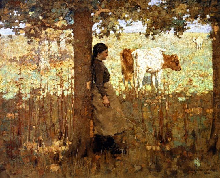 Noon geschilderd door George Henry noon Beeld Drents Museum