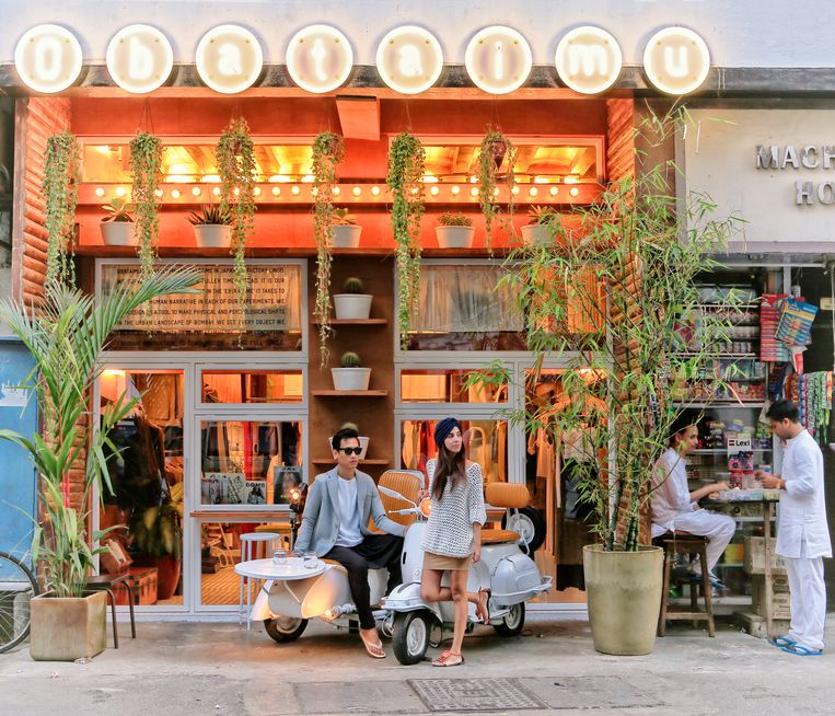 Obataimu, een modewinkel in hipsterwijk Kala Ghoda  Beeld Getty Images/AWL Images RM