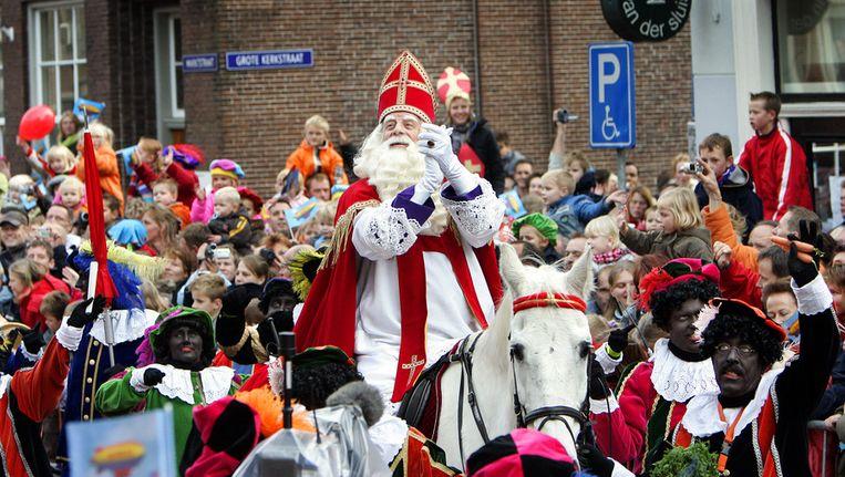 Sinterklaas tijdens de intocht in Sneek. Beeld anp