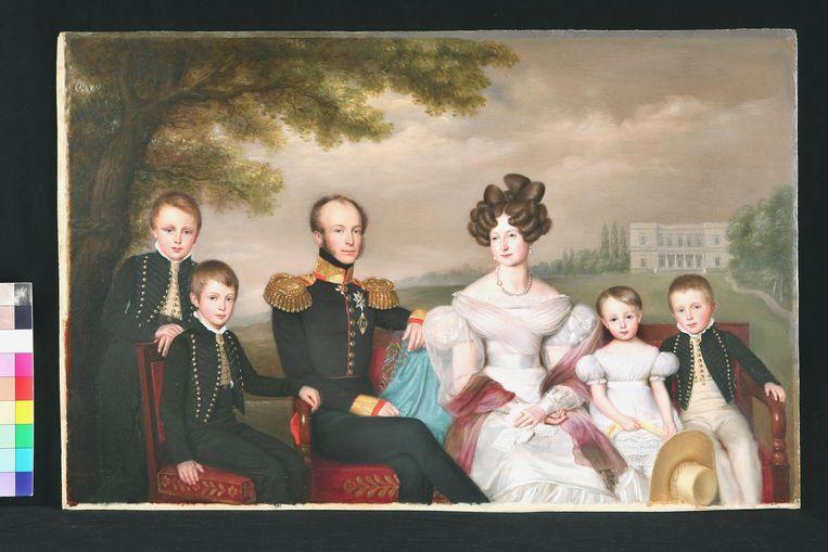 Familieportret van de latere koning Willem II door Jean-Babtiste van der Hulst. Beeld Koninklijke Verzamelingen, Den Haag