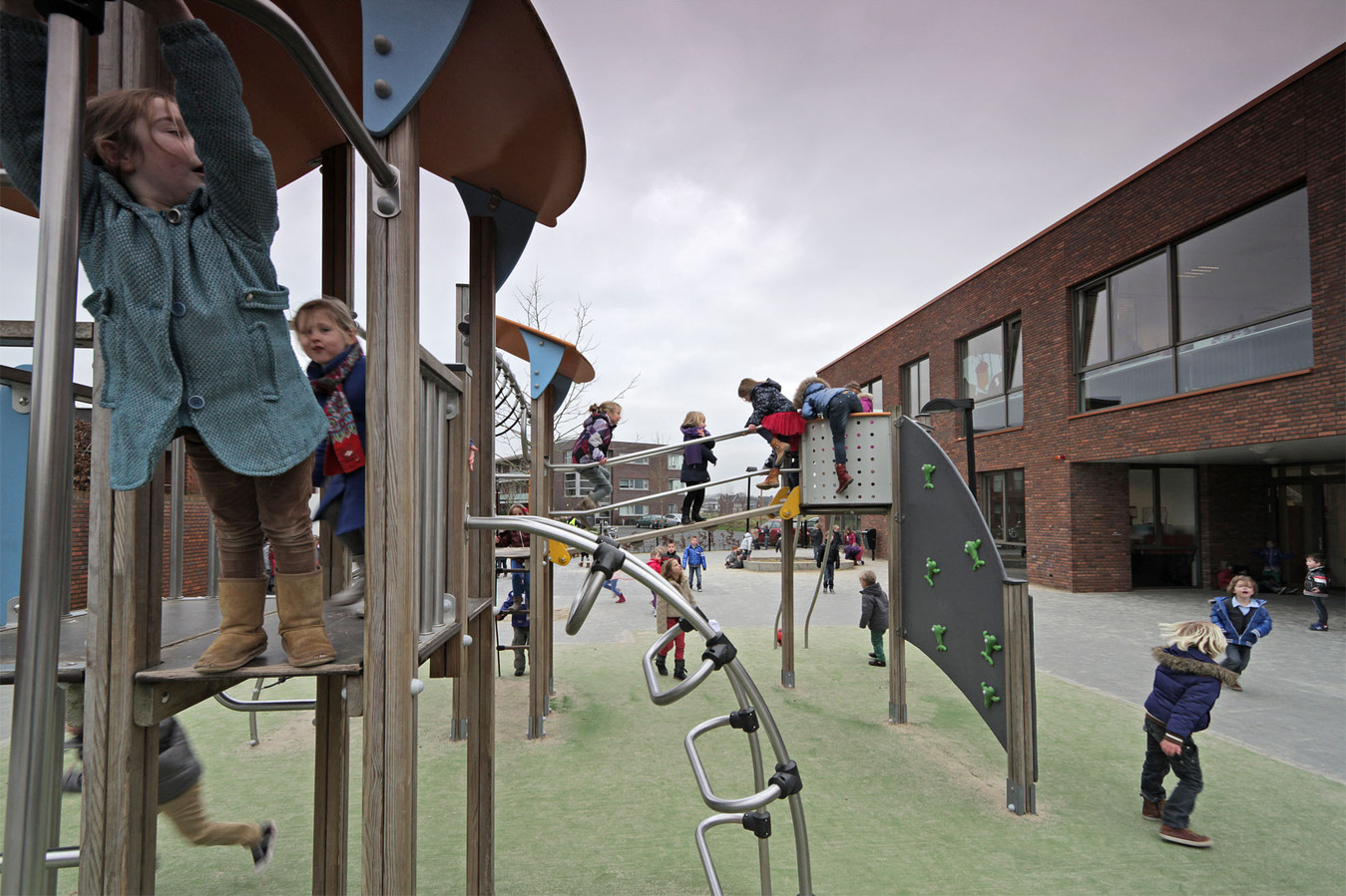 Het schoolplein van De Fonkeling.