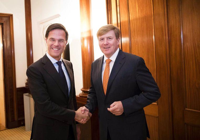 Rutte met koning Willem-Alexander. Beeld anp