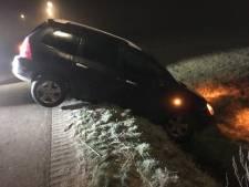 Auto in de sloot in Rijssen, bestuurder ongedeerd