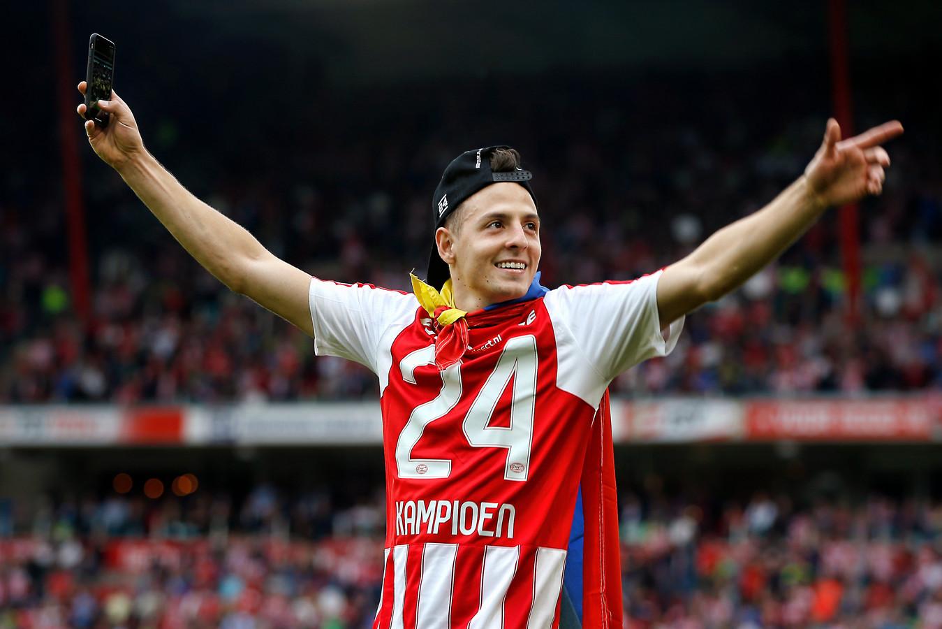 Santiago Arias, na de kampioenswedstrijd van PSV tegen Ajax.