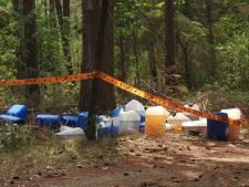 Ruim veertig vaten met drugsafval gevonden in Heeze