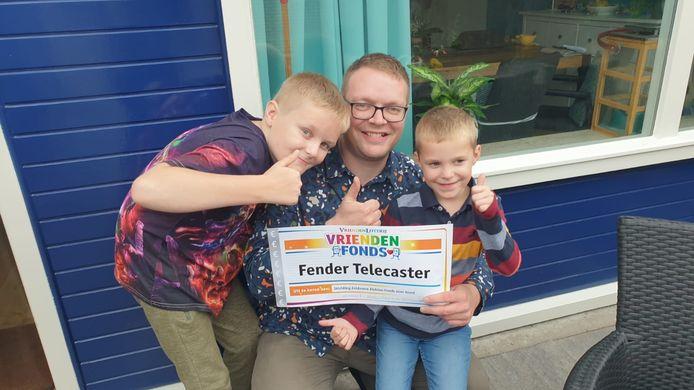 Ook Joost en zijn zoons zijn blij met de prijs