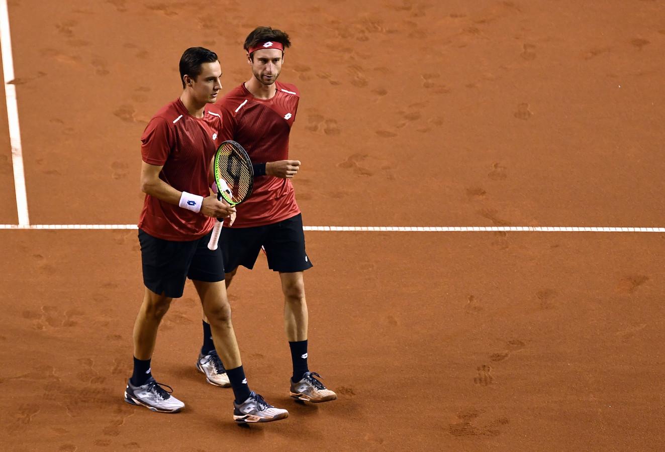 Gillé en Vliegen eerder op de Davis Cup.
