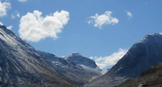 De vulkaanvallei van Glen Coe.