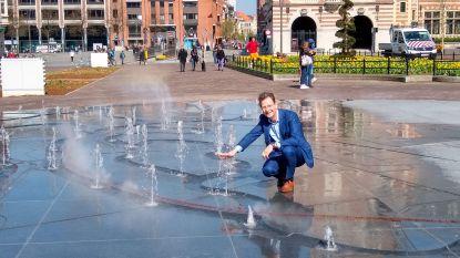 Ook de fontein op het Herbert Hooverplein komt uit lockdown…