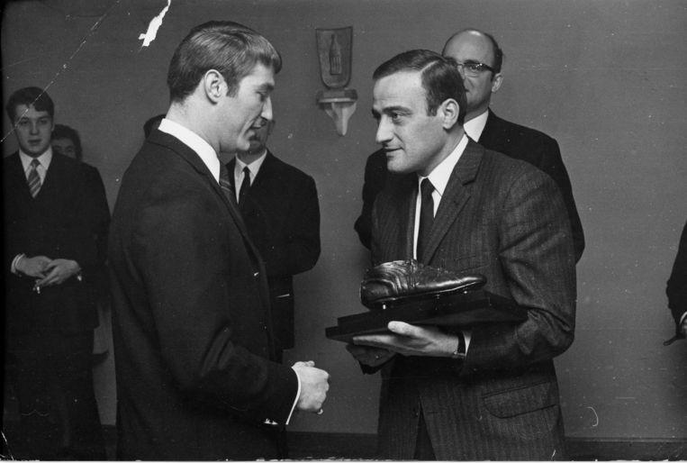 Lon Polleunis (links) werd in 1968 laureaat van de Gouden Schoen.