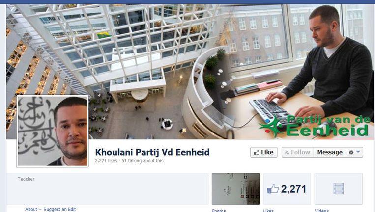 Facebookpagina van Khoulani Beeld Facebook