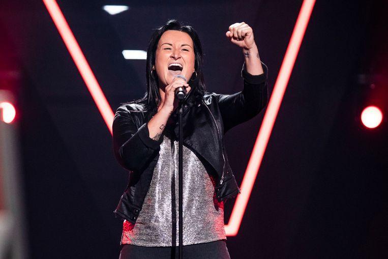 Jennifer Berton maakte vrijdagavond indruk in The Voice van Vlaanderen