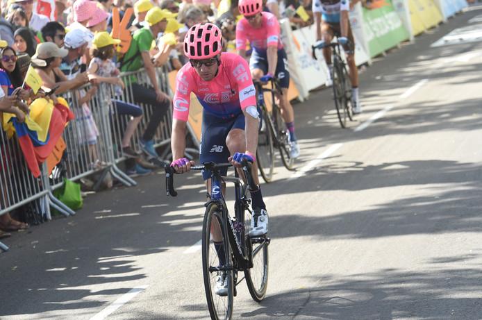 Michael Woods nog ongedeerd tijdens de achtste etappe.