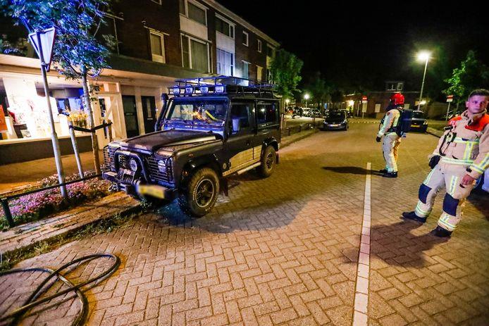 Wéér een auto in brand gestoken in Eindhoven.