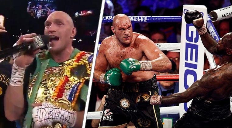 Tyson Fury stal de show na zijn winst tegen Deontay Wilder.