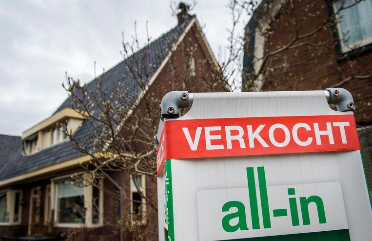 De huizenprijzen stegen in mei naar recordniveau, berekenden het Centraal Bureau voor de Statistiek en het Kadaster. Beeld ANP