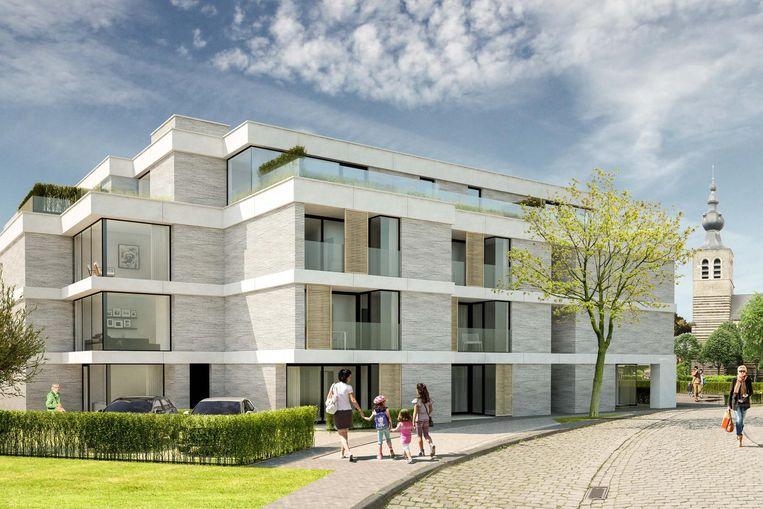 Een initiatiebeeld van hoe Residentie 'Oud Gemeentehuis' er zal gaan uitzien.