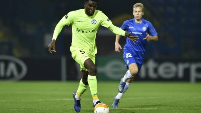 """Michael Ngadeu (AA Gent) beseft belang van thuiswedstrijd tegen Genk: """"Sleutelmatch voor rest van ons seizoen"""""""