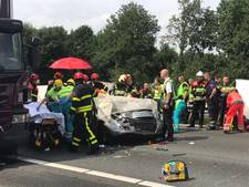 Twee gewonden bij ongeval op A58 bij Oirschot, snelweg vrijgegeven