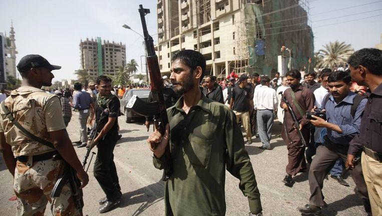 Beeld van eerder deze week, toen er bij een bomaanslag vier doden vielen Beeld reuters