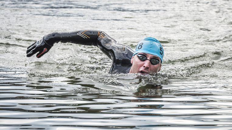 Maarten van der Weijden gaat vandaag de Elfstedentocht zwemmen. Beeld
