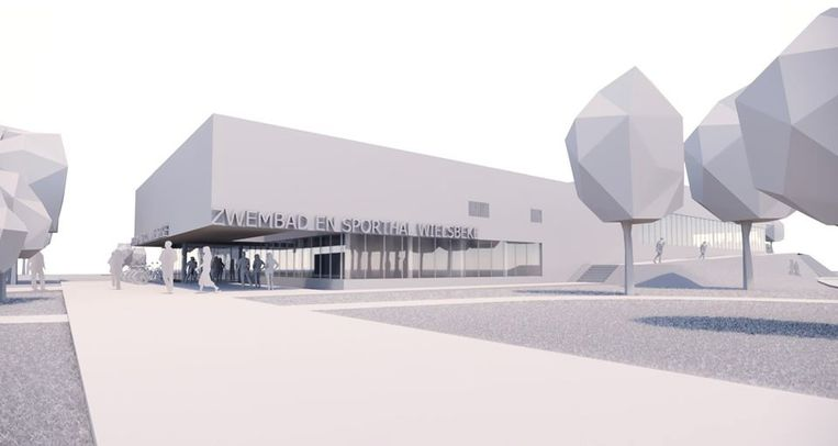 In het sportcentrum komt een zwembad, een sporthal en een cafetaria. Ook de kantoren van de dienst Vrije Tijd worden er gecentraliseerd.