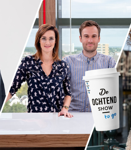 Misdaadjournalist Jens Olde Kalter en presentator Jamie Trenité te gast in De Ochtend Show to go