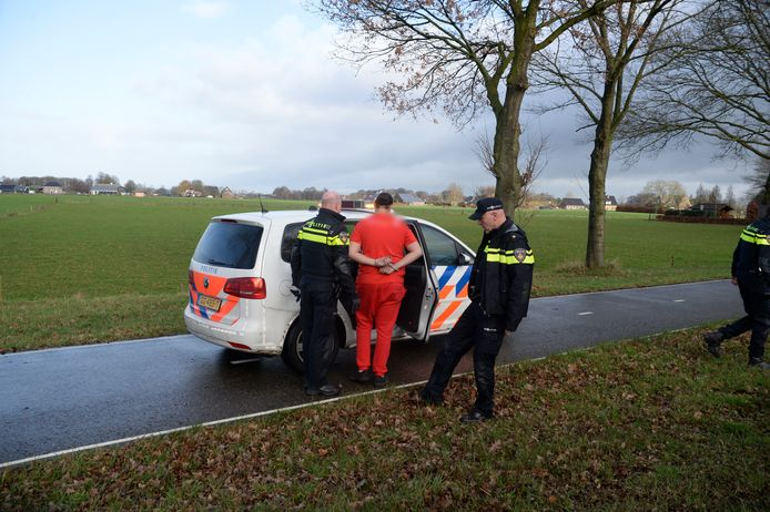 De arrestatie op de N813 in Wehl.