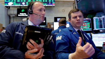 Banken onderuit op rood Wall Street