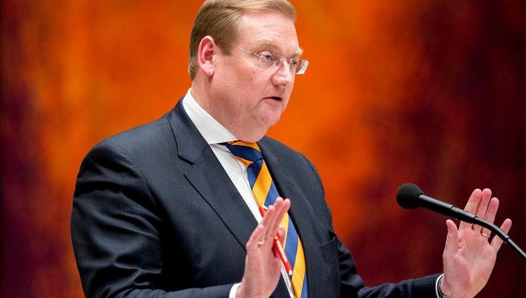 Ard van der Steur donderdagavond in de Tweede Kamer. Beeld anp