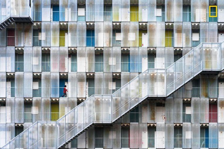 Een appartementscomplex in Japan. Gezinsverdunning en de hoge vastgoedprijzen hebben de opmars van appartementen versneld.