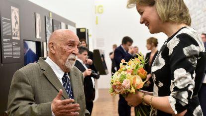 Koningin Mathilde bezoekt Kazerne Dossin en ontmoet Holocaustoverlevende