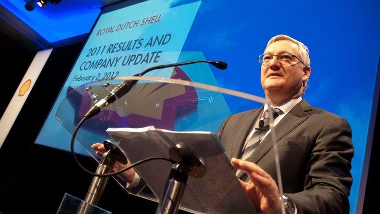 Peter Voser, topman van Shell, is de best betaalde topman uit het onderzoek van de Volkskrant. Beeld ANP