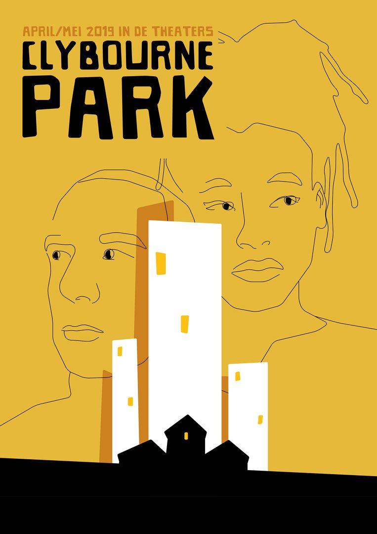Poster van de voorstelling Clybourne Park.  Beeld null