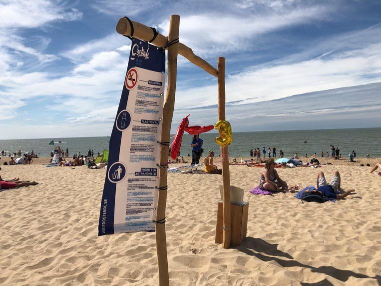 Het nieuwe strand in Oostende.