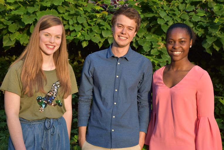 Evelien Vagenende, Tom Verbeke en Gloria Uniweza van CD&V Haaltert.