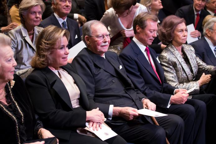 Groothertog Jean van Luxemburg (midden).