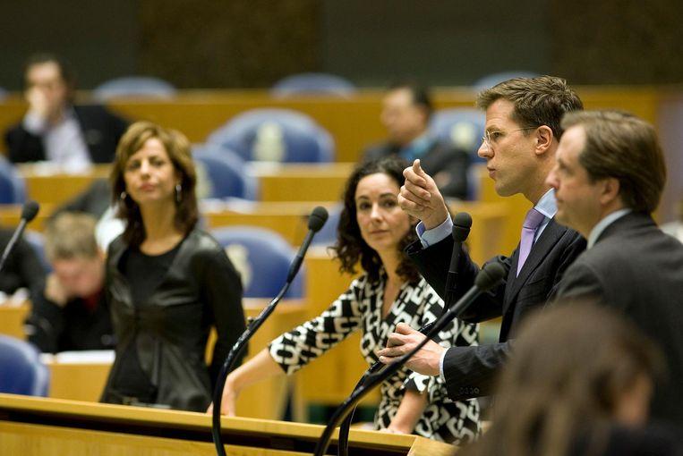 Femke Halsema in 2009 tijdens het debat over de financiële crisis. Beeld ANP