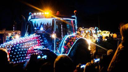 Landelijke Gilde viert feest: twintig kilometer met verlichte tractors door gemeente