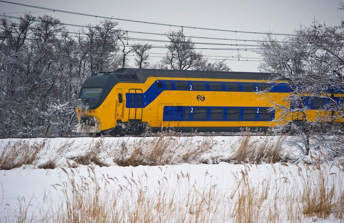 Het treinverkeer had op 10 en 11 december tijdens de sneeuwstorm veel last van het winterweer.