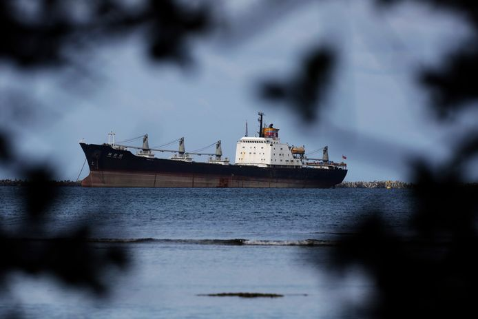 Het Noord-Koreaanse vrachtschip Chong Chon Gang.