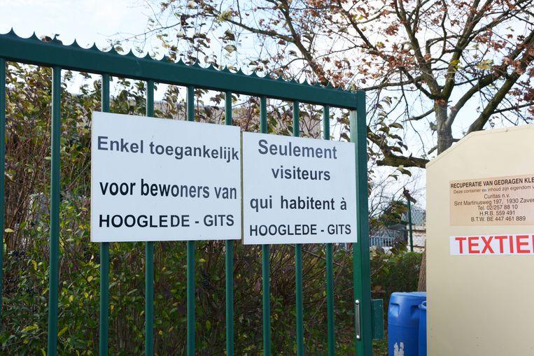 Het containerpark van Hooglede.