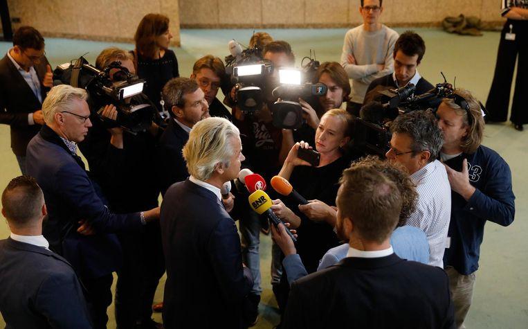 Geert Wilders reageert op de winst van Donald Trump Beeld ANP