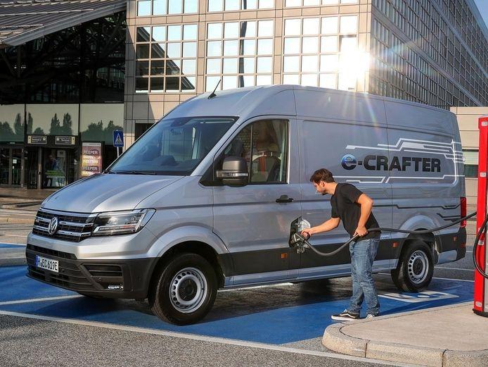 Volkswagen levert de e-Crafter onder meer aan Albert Heijn